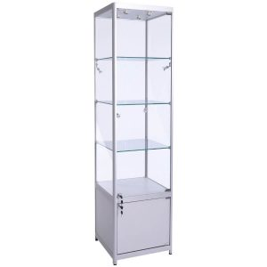 500mm wide Freestanding Cabinet with Storage in Silver - FWC-500