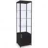500mm wide Freestanding Cabinet with Storage in Black - FWC-500