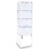 500mm wide Freestanding Cabinet with Storage in White - FWC-500