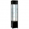 400mm wide Feestanding Cabinet with Storage in Black - FWC-TC-400
