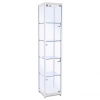 400mm wide Trophy Cabinet in White - F-400