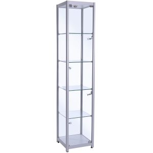 400mm wide Trophy Cabinet in Silver - F-400