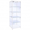 500mm wide glass display cabinet in White - F-500