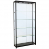 800mm wide Glass Display Cabinet in Black - F-800
