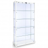 800mm wide Glass Display Cabinet in White - F-800