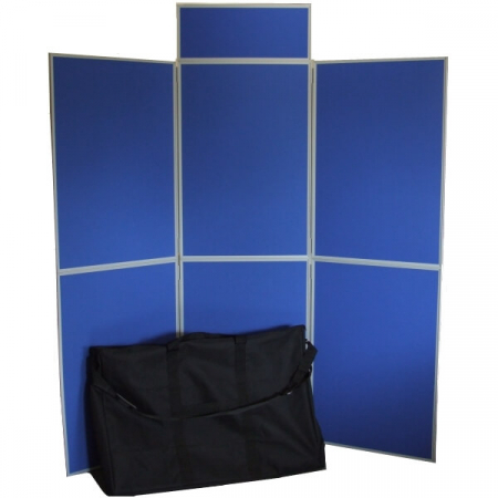6 panel folding display boards with bag