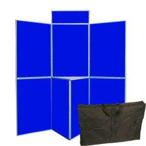 7 panel folding display boards including bag
