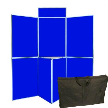 7 panel folding display boards including bag