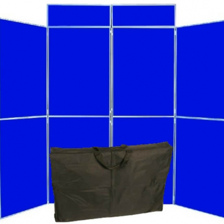 8 panel folding display boards including bag