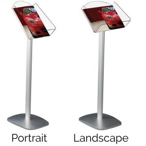 A4 brochure display stand - portrait or landscape
