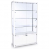 1200mm wide Trophy Cabinet with Storage in White - FWC-1200