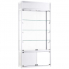 1000mm wide Freestanding Display Cabinet with Storage in White - FWC-TC-1000