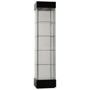 457mm wide Freestanding Display Cabinet in Black - F457NR