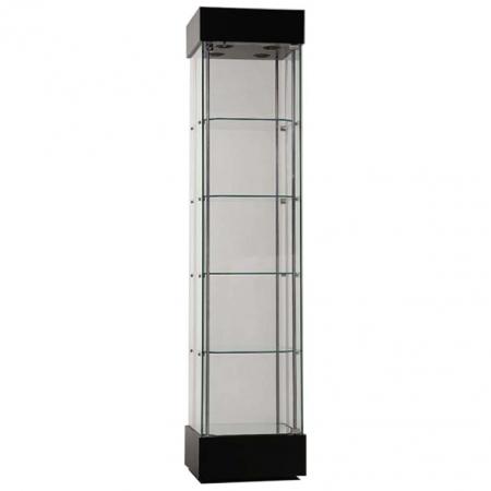 457mm wide Freestanding Display Cabinet in Black - F457NR