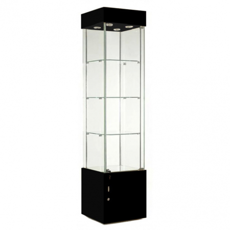 457mm wide Freestanding Display Cabinet in Black - F457NR-WC