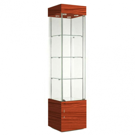 457mm wide Freestanding Display Cabinet in Cherry - F457NR-WC