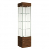 457mm wide Freestanding Display Cabinet in Walnut - F457NR-WC