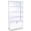 1000mm wide Freestanding Display Cabinet with Storage in White - FWC-1000