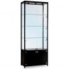 800mm wide Freestanding Display Cabinet with Storage in Black - FWC-800
