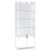 800mm wide Freestanding Display Cabinet with Storage in White - FWC-800