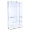 1000mm wide Freestanding Glass Display Cabinet in White - F-1000