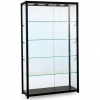 1200mm wide Glass Retail Display in Black - F-1200