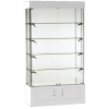 1016mm wide Freestanding Glass Display Cabinet in White - FC-09