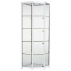 Freestanding Corner Glass Display Cabinet in White - FCO1