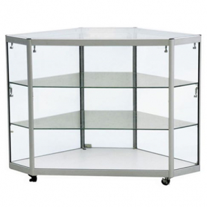 Corner Display Counter in Silver - CCO3