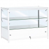 1200mm wide Glass Display Counter in White - C2
