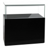 1200mm wide Premium Glass Display Counter in High Gloss Black - GC-1200