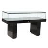 Premium Glass Display Counter in High Gloss Black - LEDC-1500