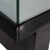 glass display counter - ledc-1500 in black corner