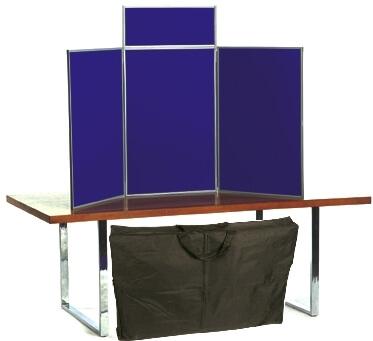 senior table top display boards including bag