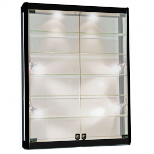 1000mm wide Wall Mounted Display Cabinet in Black - WM10-12