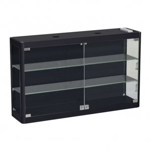 1000mm wide Wall Mounted Display Cabinet in Black - WM10-6