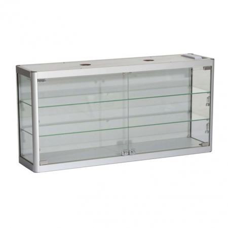 1200mm wide Wall Mounted Display Cabinet in Silver - WM12-6