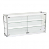 1200mm wide Wall Mounted Display Cabinet in White - WM12-6