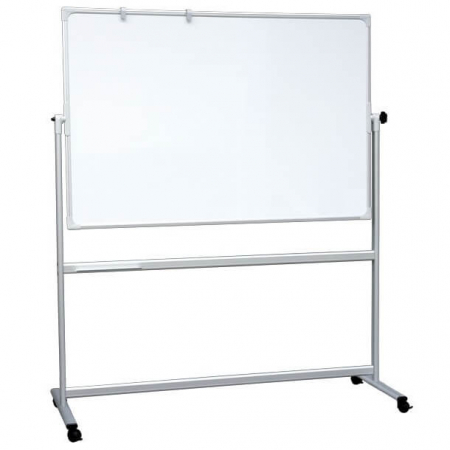 portable revolving magnetic whiteboard including stand