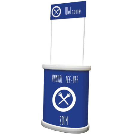 tornado outdoor promotional counter