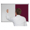 Whiteboard and Pin Board Combination - Burgundy