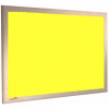 Olympian Yellow - Charles Twite felt notice board with wood frame