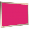 Splendid Pink - Charles Twite felt notice board with wood frame