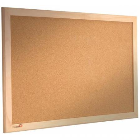 wood frame cork notice board