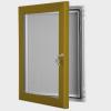exterior lockable felt notice board - bronze anodised