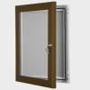 exterior lockable felt notice board - chocolate brown