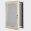 exterior lockable felt notice board - cream
