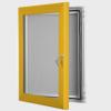 exterior lockable felt notice board - gold anodised