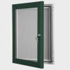 exterior lockable felt notice board - moss green