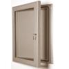 exterior lockable felt notice board - pine
